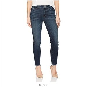 Paige Hoxton Ankle Peg Jeans Distresses hem